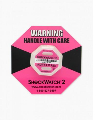 Companion Label 1 et dans son centre le Shockwatch 2 5G (Pink) qui correspond