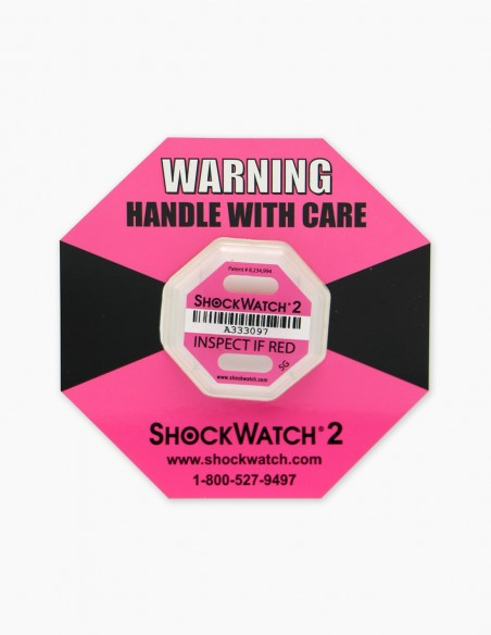 Companion Label 1 et dans son centre le Shockwatch 2 5G (Pink) qui correspond