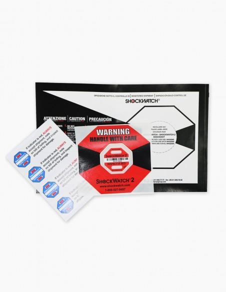 Pack complet de Shockwatch 2 avec toutes les étiquettes Companion Label envoyées.