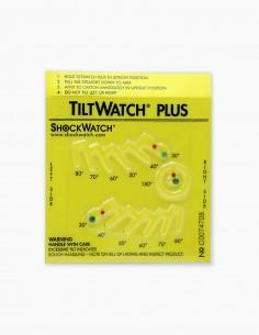 Dispositivo Tiltwatch Plus indicador de vuelco y de inclinaciones de diferentes grados.