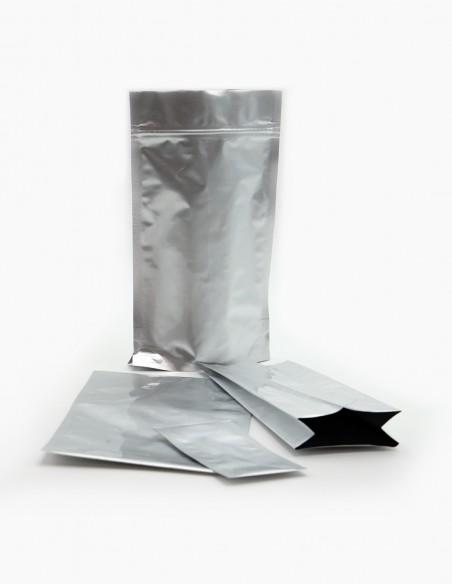 Diferentes tipos de bolsas de aluminio laminado.