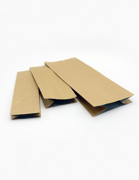 Diferentes tamaños y modelos de bolsas con fuelles laminado en aluminio Kraft