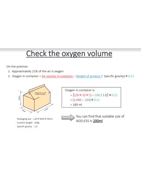 Instructions pour vérifier le volume d'oxygène