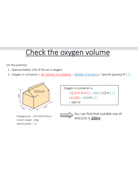 Instructions to check the oxygen volume