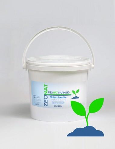 Zeolita Natural para cultivo de plantas y jardines ZEONAT FARMING