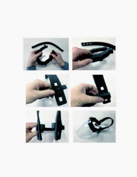 Pantalla protector facial instrucciones de montaje