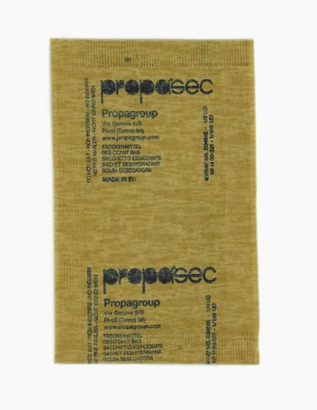 Bolsas desecantes de arcilla de 6 gr en papel biodegradable, visión parte de alante.