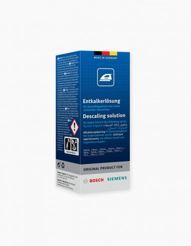 Descaling solution for steam irons