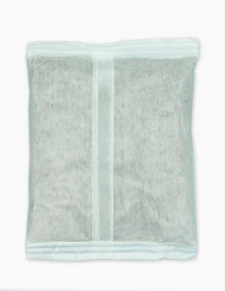 Molecular sieve desiccant bag photo of the back.