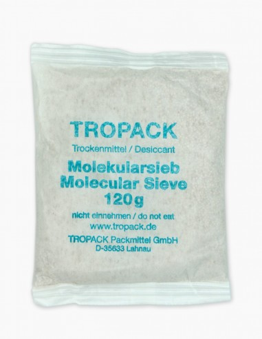 Molecular sieve desiccant bag photo of the front view.