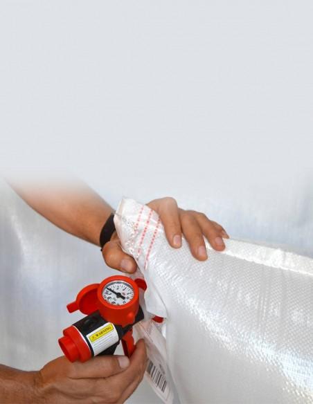 Pistola de aire para airbags con manómetro